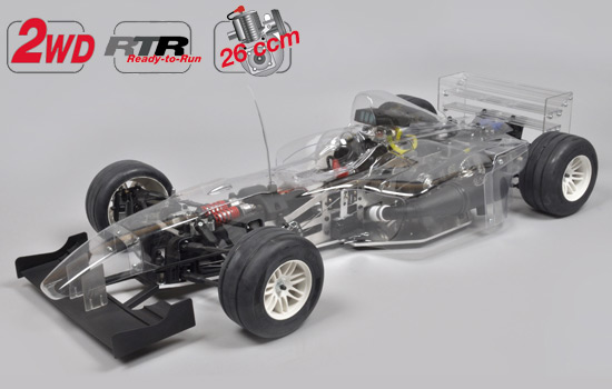 F-1/5 Sportsline 2WD RTR clear body