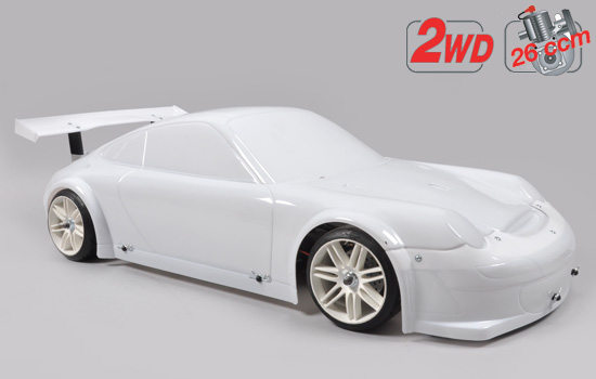 voiture FG 2WD 510 chassis + Porsche GT3 body clear