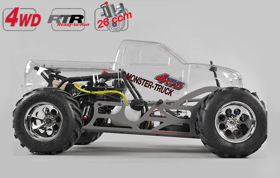 voiture FG Monster Truck WB535 4WD RTR clear