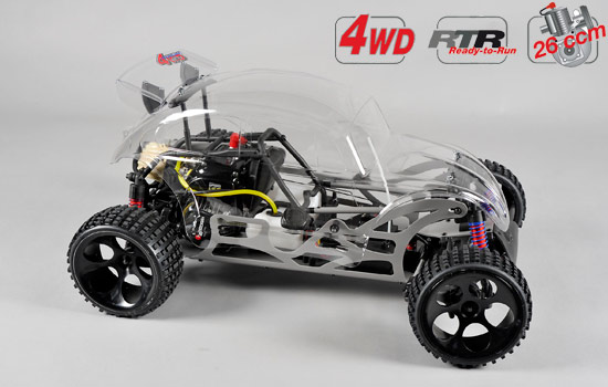 voiture FG Buggy WB535 4WD RTR clear body