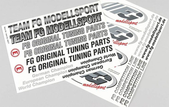 carrosserie FG FG model decals set
