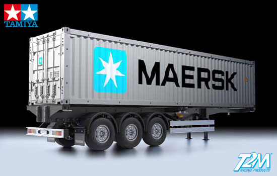 T2m Modelisme Camion Tamiya Semi Remorque Porte Container